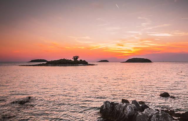 Sonnenuntergang in Vrsar, Kroatien
