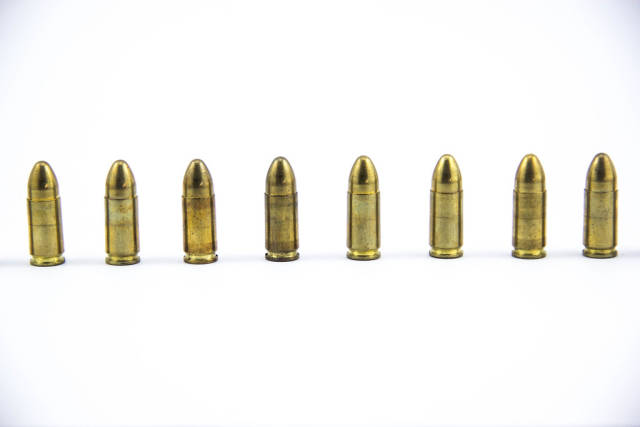 Lined up Bullets