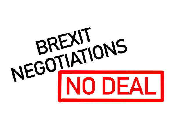 No deal Brexit text on white