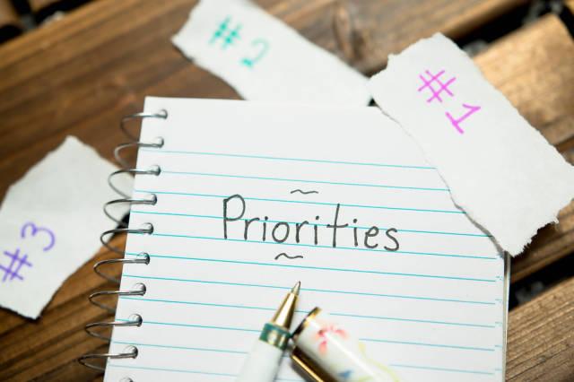 Listing priorities
