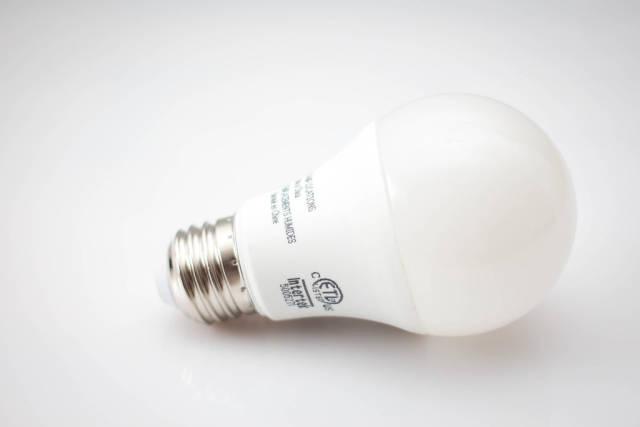 White Light Buld on a White Background