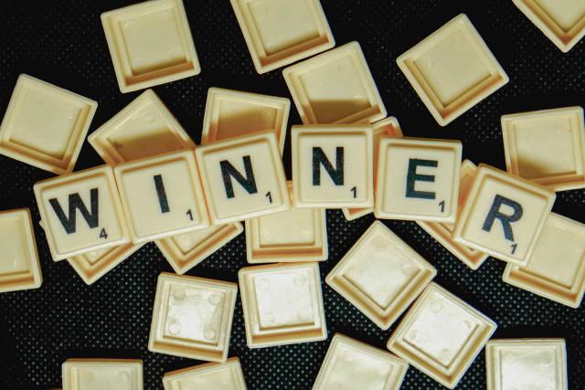 Word winner formed from scrabble