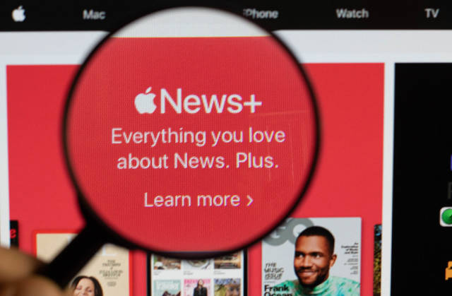 Apple News+ under magnifying glass
