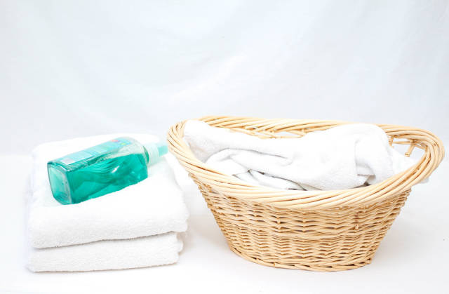 Laundry Basket with Soap
