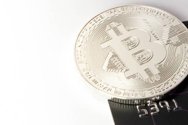 Silberner Bitcoin