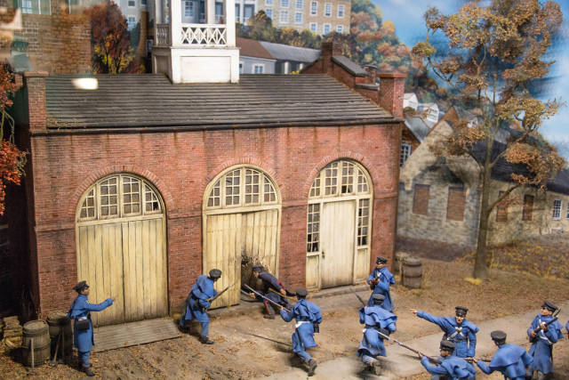 Model of Union Soldiers in Harpers Ferry