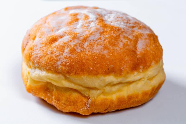 Traditional doughnut on white background