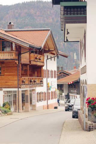 Street in German village Reit Im Winkl