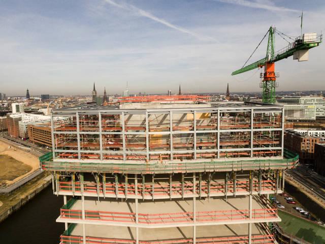 Construction area Hamburg Hafencity