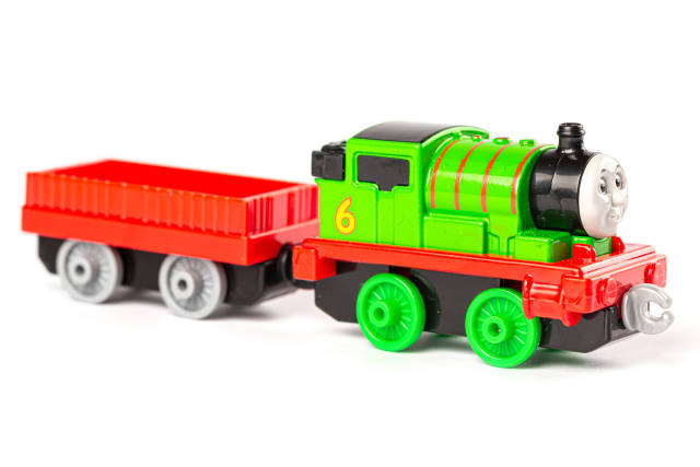Percy toy locomotive from the thomas and friends