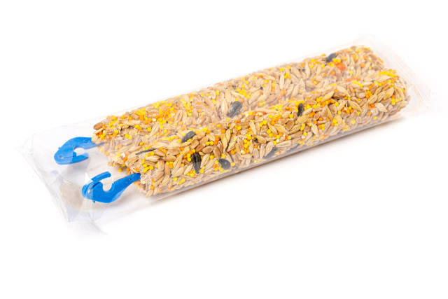 Pressed grain sticks for rodents