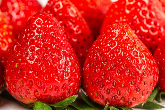Strawberry fresh organic berries - fruit background