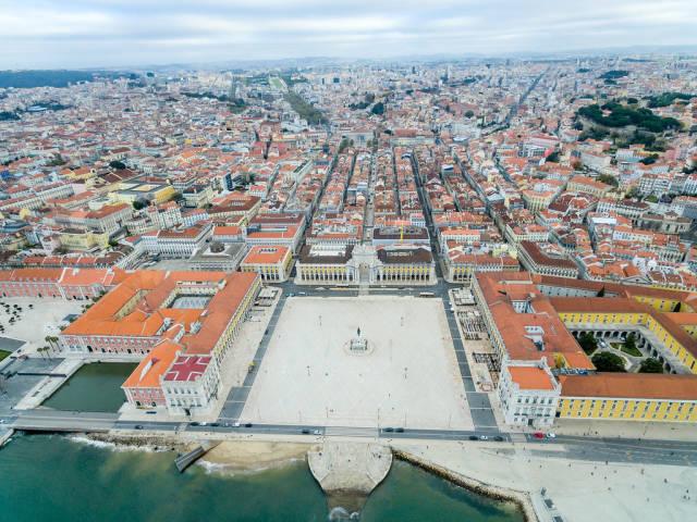 Luftbildaufnahme: Praça do Comércio (dt. Platz des Handels)