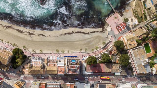 Peguera, Mallorca aus der Vogelperspektive