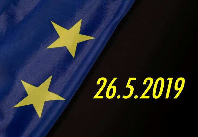 European elections date with European Union flag