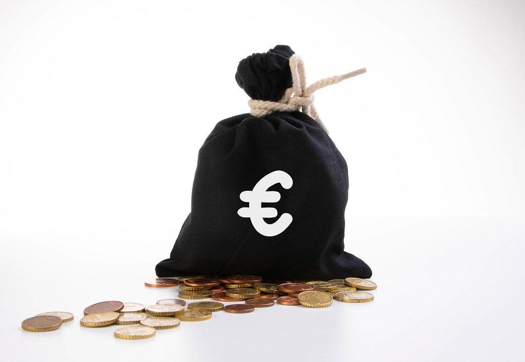 Money bag with euro symbol