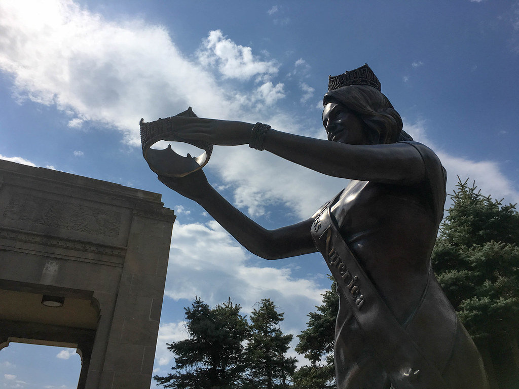 Miss America Statue in Atlantic City, USA