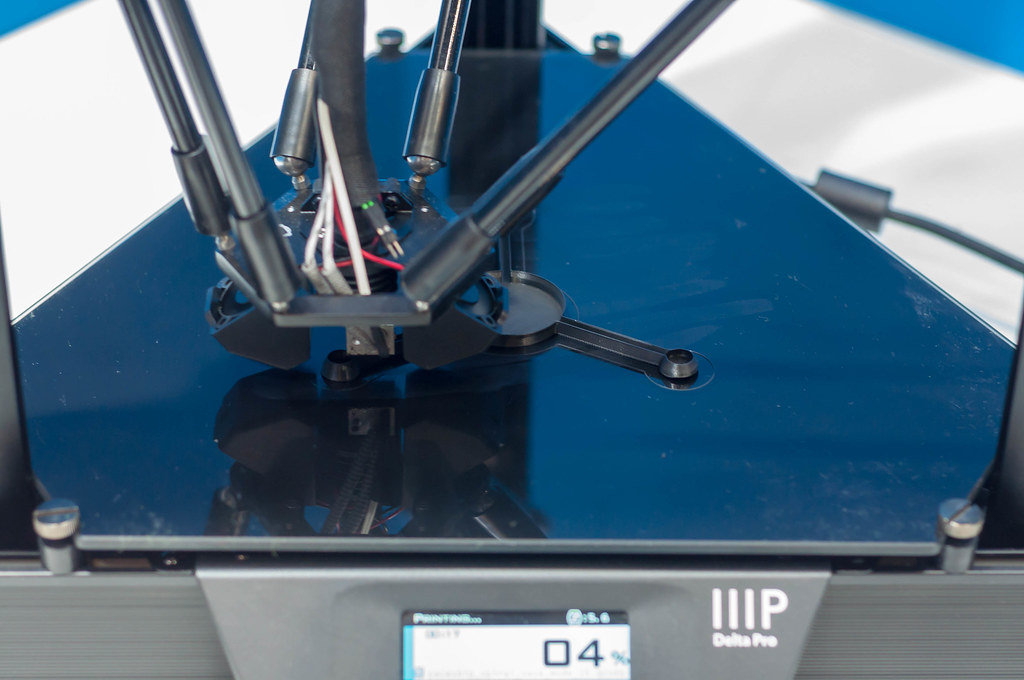 Close-up of a IIIP 3D printer