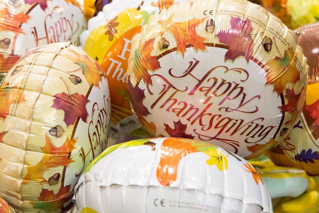 Happy Thanksgiving Ballons