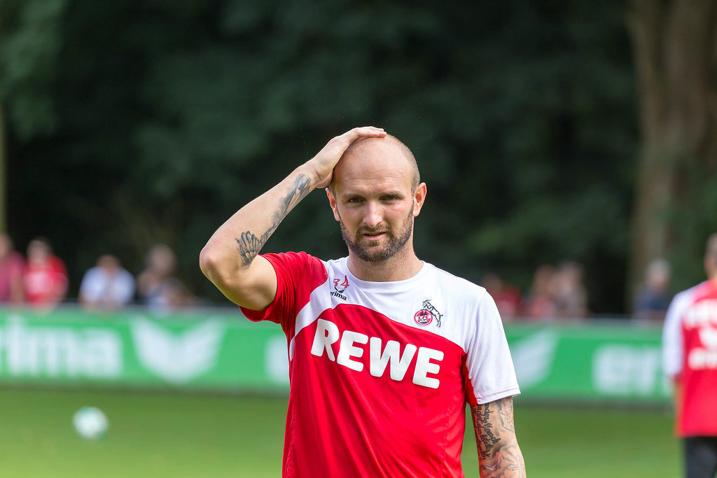 1. FC Köln Spieler Konstantin Rausch beim Training