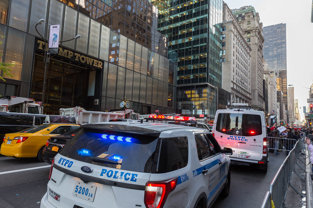 Trump Tower: Police and Demonstrants