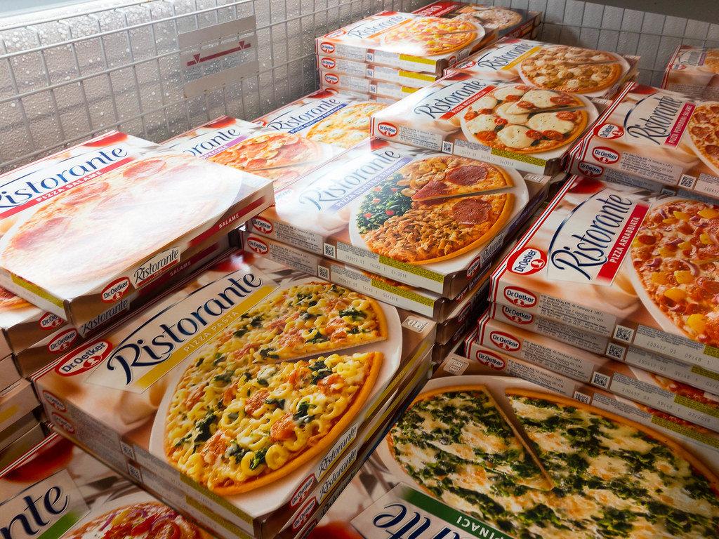 Dr. Oetker Pizza im Tiefkühlfach