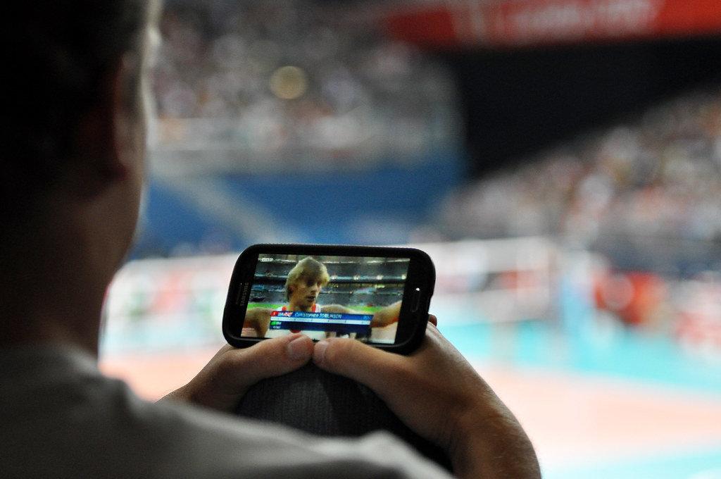 Olympiaübertragung auf dem Smartphone