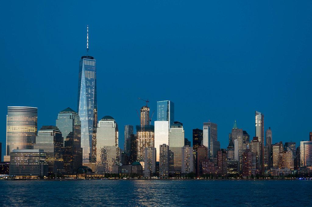 New York Skyline at Twilight Hour