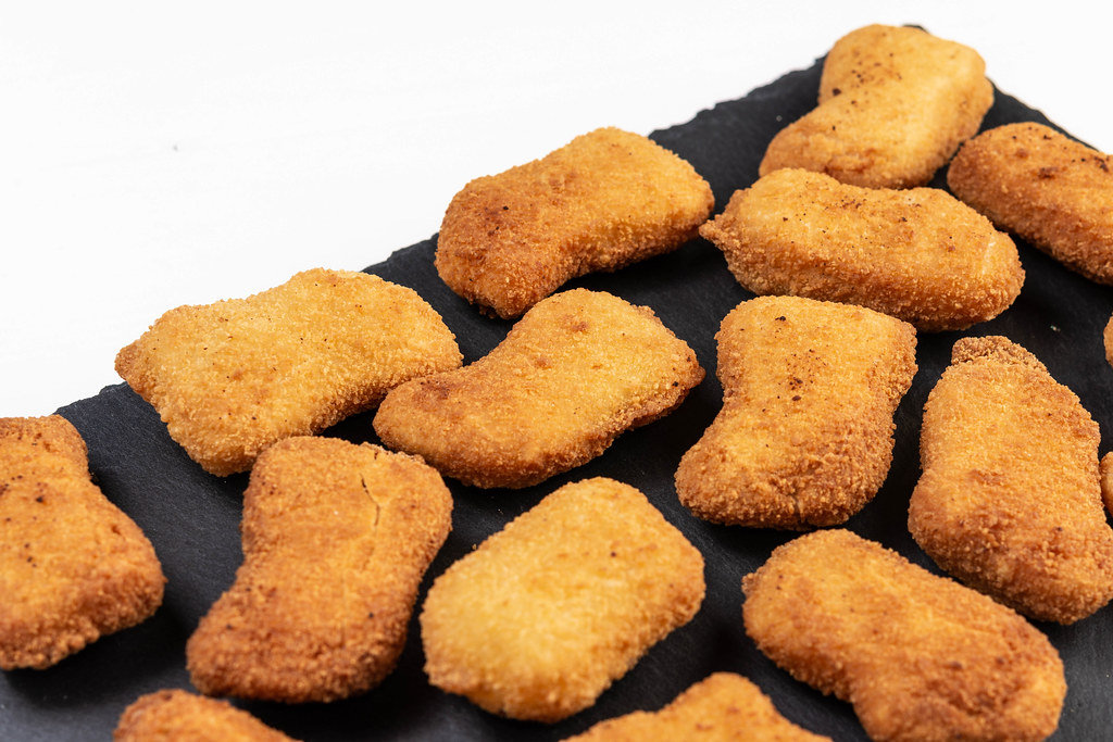 Fried Chicken Nuggets on the stone tray