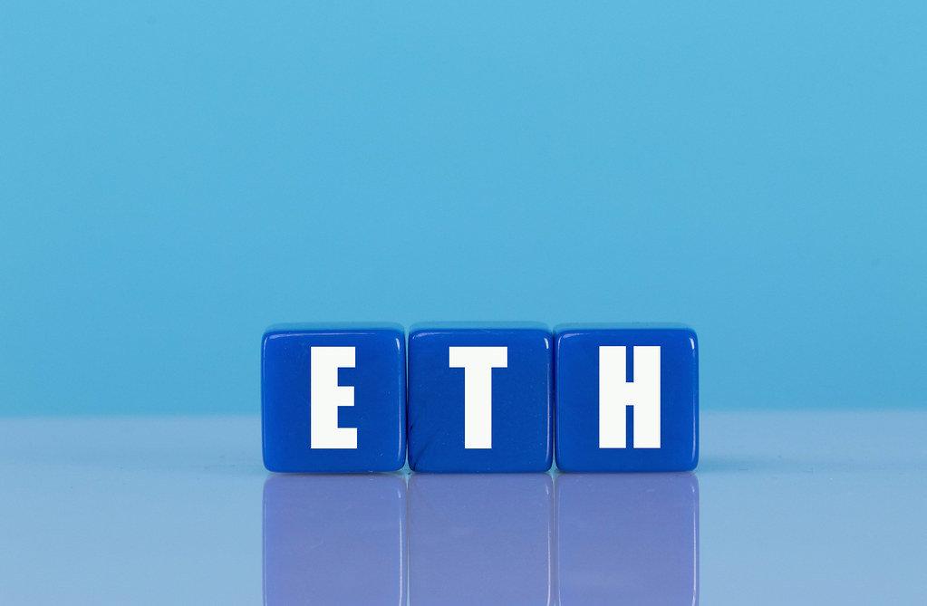 ETH text on blue cubes
