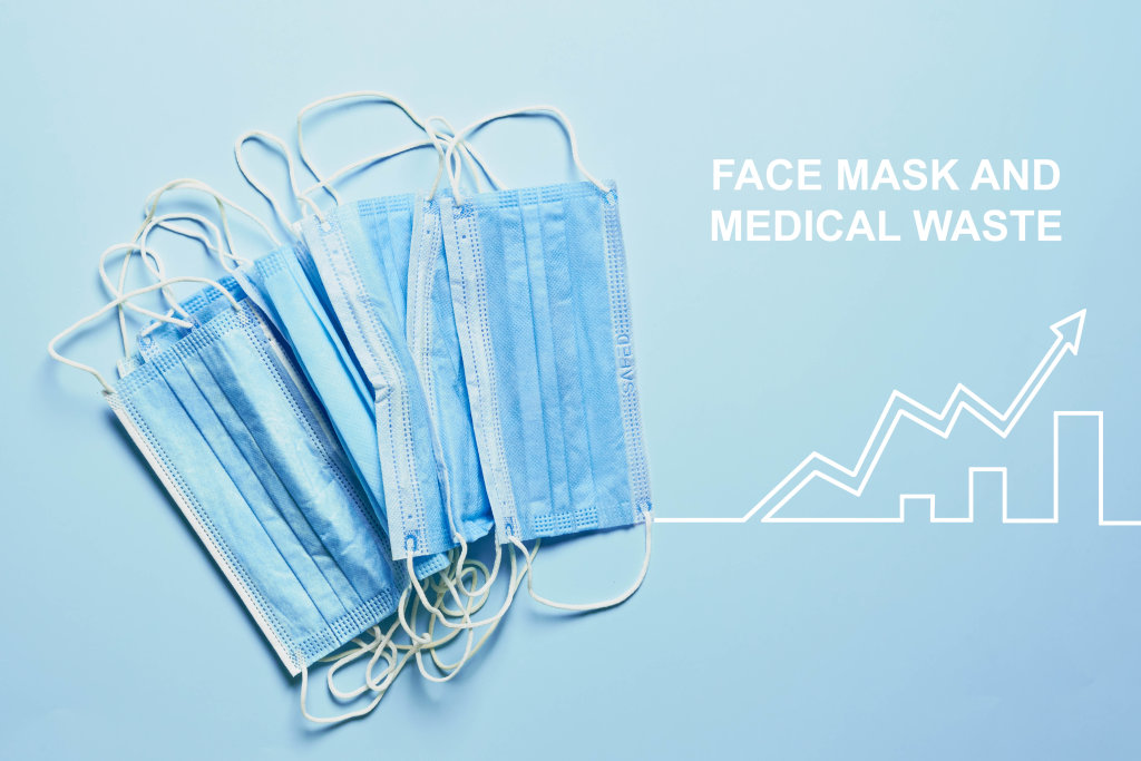 Rising pollution of face masks and medical waste