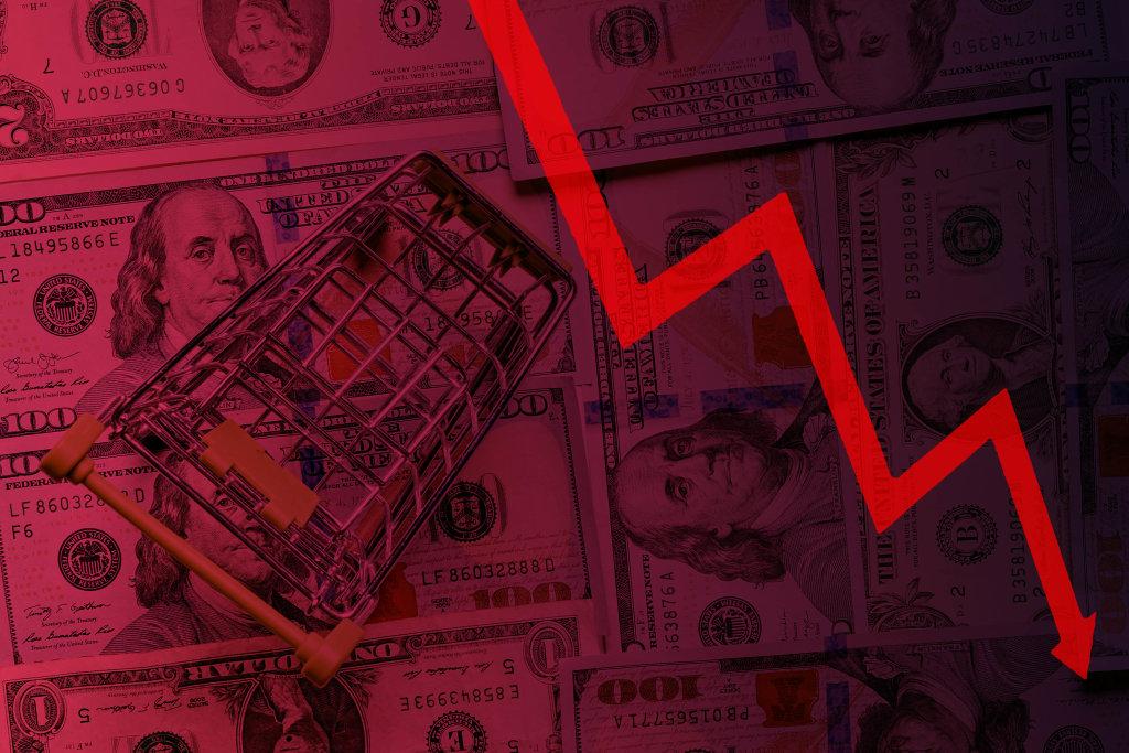 Decrease in consumer price index