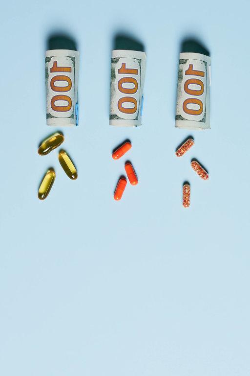 Medical pills and dollar rolls