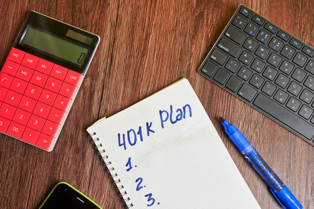 401k pension plan concept