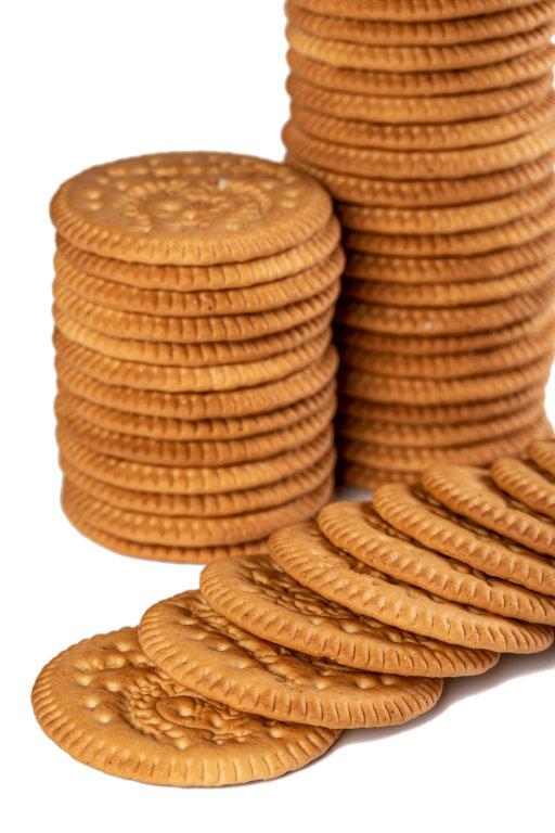 Crispy biscuit crackers, close up