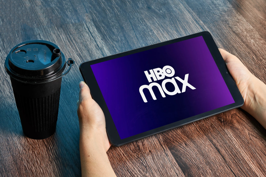 Watching HBO max subscription video on demand streaming service