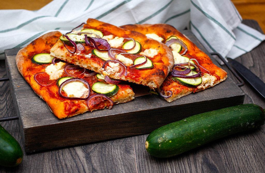 Vegetarian Zucchini Pizza