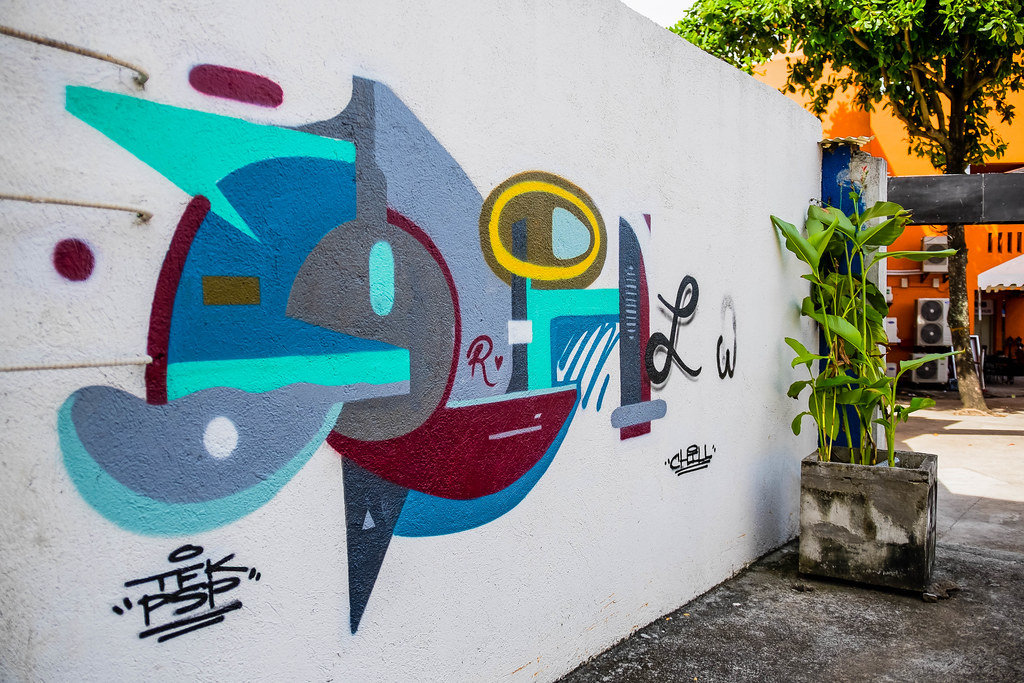Close Up Shot of Street Art in Bacolod