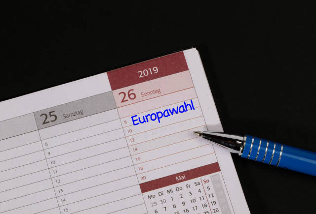 Calender with Europawahl text