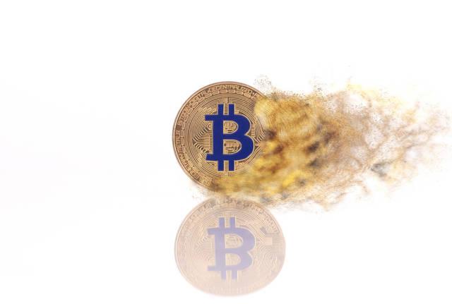 Bitcoin in fire