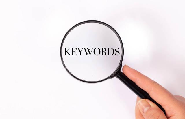 Keywords under magnifying glass