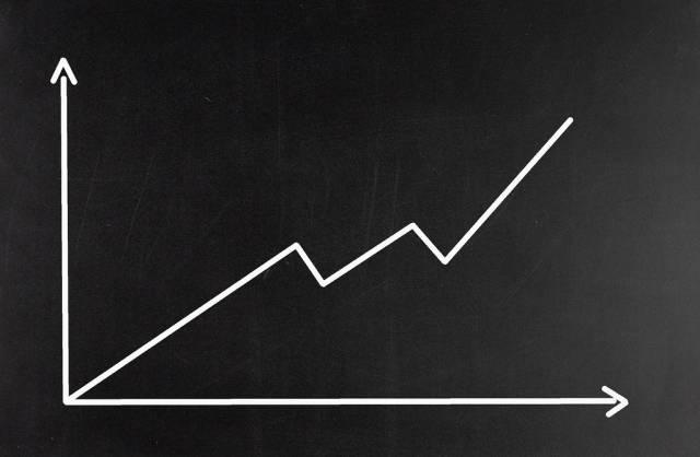 Graph on blackboard