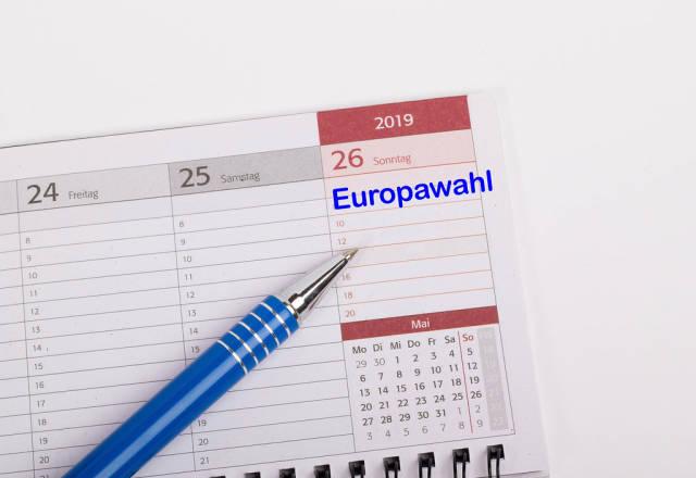 Text Europawahl on calendar
