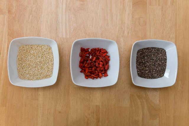 Superfoods: Quiona, Goji-Beeren und Chia-Saamen