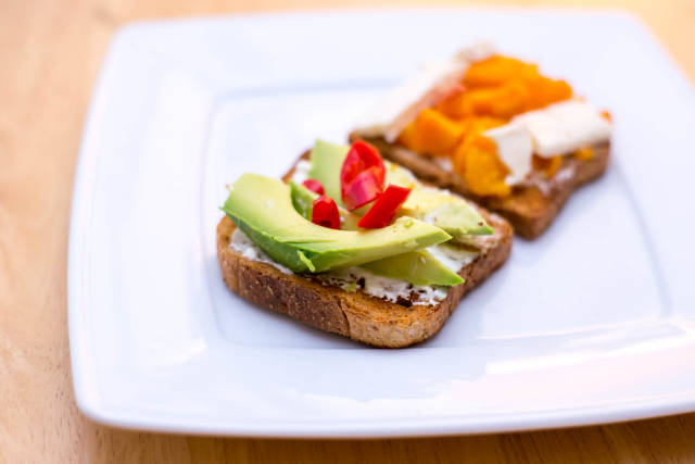 Toast with Avocado and Chili