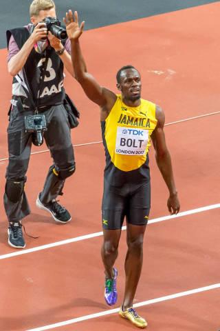 Usain Bolt in London 2017
