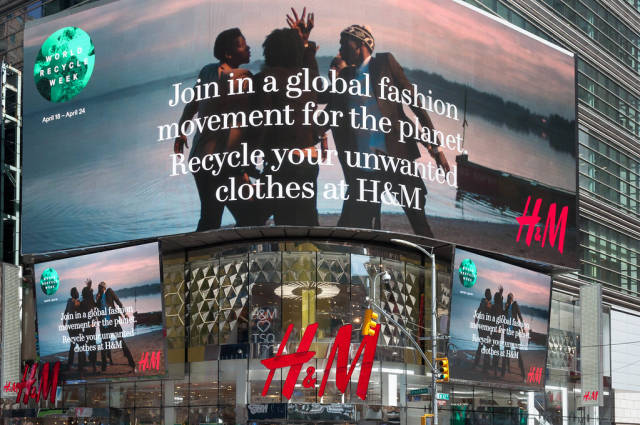 H und M auf Times Square