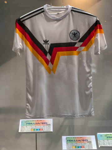 Jersey of the German national soccer team during World Cup 1990 in Italy