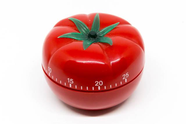 Auf Englisch übersetzen => Eieruhr in Tomatenform für Pomodoro-Technik