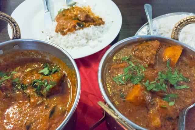 Indidan Vindaloo Lamb & Madras Curry